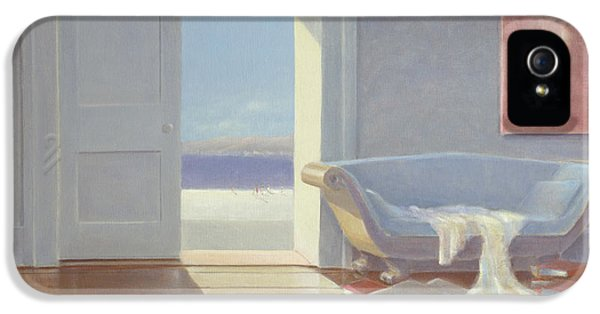 Sofa iPhone 5 Cases - Beach House, 1995 Acrylic On Board iPhone 5 Case by Lincoln Seligman