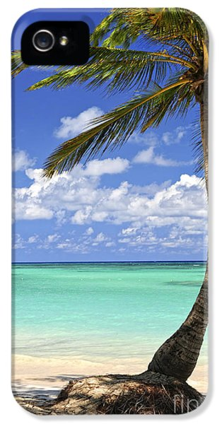Beauty iPhone 5 Cases - Beach of a tropical island iPhone 5 Case by Elena Elisseeva