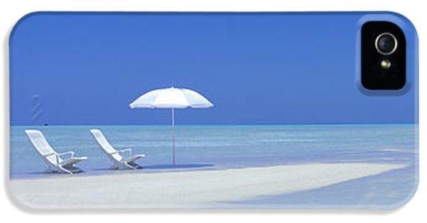 Indian Ocean iPhone 5 Cases - Beach Scene Digufinolhu Maldives iPhone 5 Case by Panoramic Images