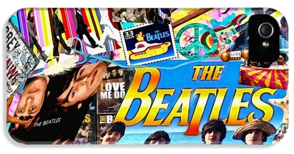 Mo T iPhone 5 Cases - Beatles for Summer iPhone 5 Case by Mo T