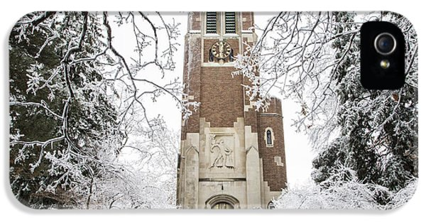 Beaumont Tower Ice Storm  IPhone 5 / 5s Case by John McGraw