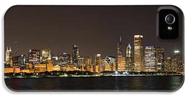 Firework iPhone 5 Cases - Beautiful Chicago Skyline with Fireworks iPhone 5 Case by Adam Romanowicz