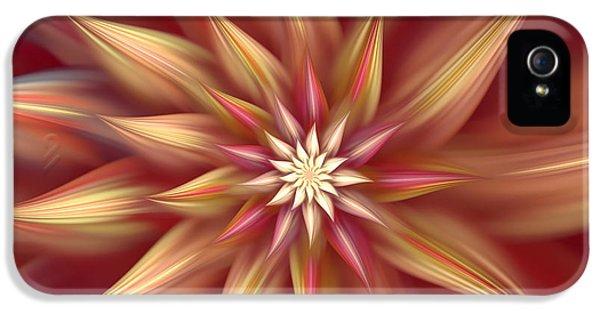 Asymmetrical iPhone 5 Cases - Beautiful Dahlia Abstract iPhone 5 Case by Georgiana Romanovna