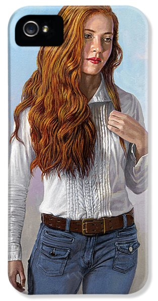 Figure iPhone 5 Cases - Becca in Blouse and Jeans iPhone 5 Case by Paul Krapf
