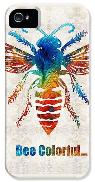 Bee iPhone 5 Cases - Bee Colorful - Art by Sharon Cummings iPhone 5 Case by Sharon Cummings