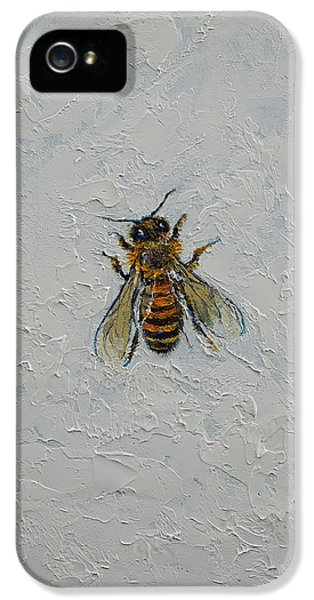 Bee iPhone 5 Cases - Bee iPhone 5 Case by Michael Creese