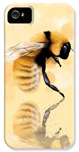 Bee iPhone 5 Cases - Bee iPhone 5 Case by Veronica Minozzi