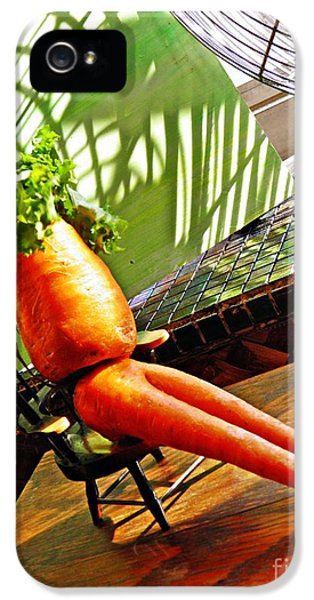 Beer Belly Carrot On A Hot Day IPhone 5 / 5s Case by Sarah Loft