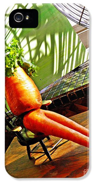 Carrot iPhone 5 Cases - Beer Belly Carrot on a Hot Day iPhone 5 Case by Sarah Loft