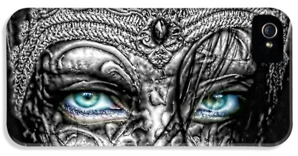 Mo T iPhone 5 Cases - Behind Blue Eyes iPhone 5 Case by Mo T