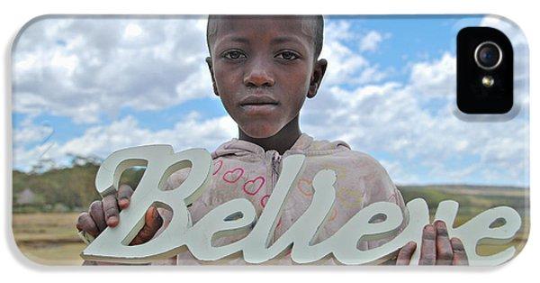 Children Only iPhone 5 Cases - Believe in Africa iPhone 5 Case by Mesha Zelkovich