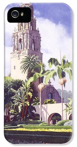 Balboa iPhone 5 Cases - Bell Tower in Balboa Park iPhone 5 Case by Mary Helmreich