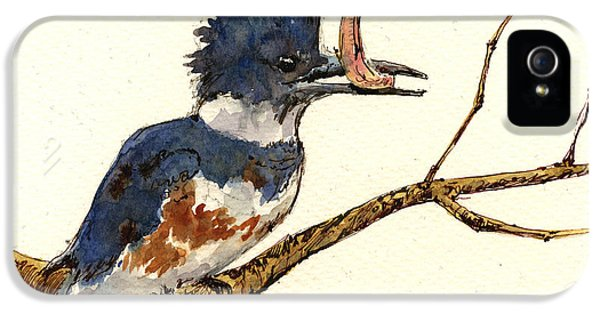 Belted Kingfisher Bird IPhone 5 / 5s Case by Juan  Bosco
