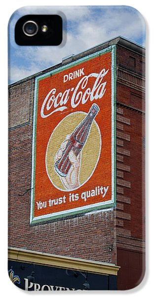Decorative Art iPhone 5 Cases - Bend Oregon Coke Sign iPhone 5 Case by Gary Grayson