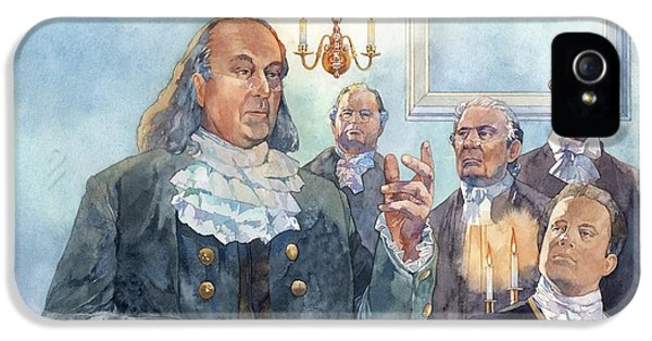 American Revolution iPhone 5 Cases - Benjamin Franklin at Albany Congress iPhone 5 Case by Matthew Frey