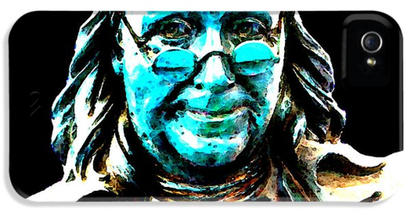 Us Constitution iPhone 5 Cases - Benjamin Franklin - Historic Figure Pop Art By Sharon Cummings iPhone 5 Case by Sharon Cummings