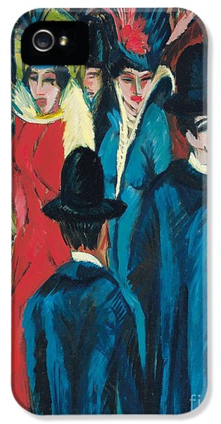 Berlin Street Scene IPhone 5 / 5s Case by Ernst Ludwig Kirchner