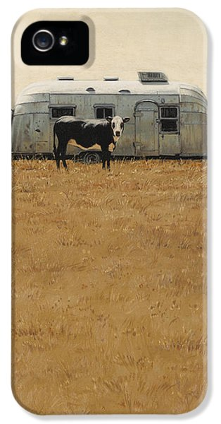 Trailer iPhone 5 Cases - Bessie Wants To Travel iPhone 5 Case by Ron Crabb