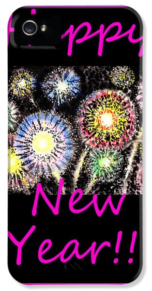 Firework iPhone 5 Cases - Best Wishes And Happy New Year iPhone 5 Case by Irina Sztukowski