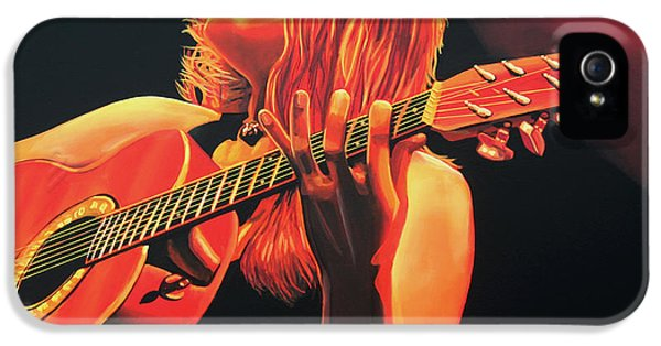 Painter iPhone 5 Cases - Beth Hart  iPhone 5 Case by Paul  Meijering