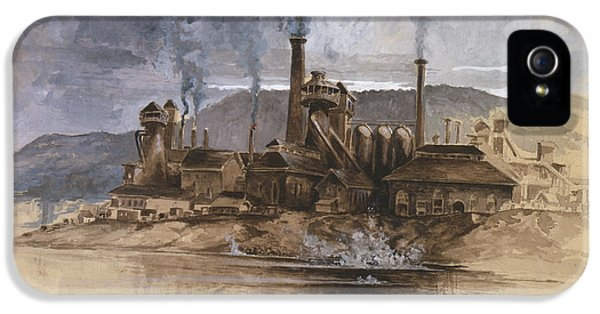 Bethlehem Steel Corporation Circa 1881 IPhone 5 / 5s Case by Aged Pixel