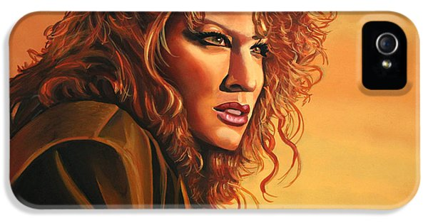 Moviestar iPhone 5 Cases - Bette Midler iPhone 5 Case by Paul  Meijering