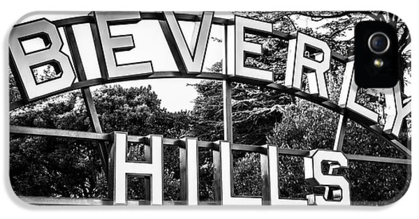 Beverly Hills Sign In Black And White IPhone 5 / 5s Case by Paul Velgos