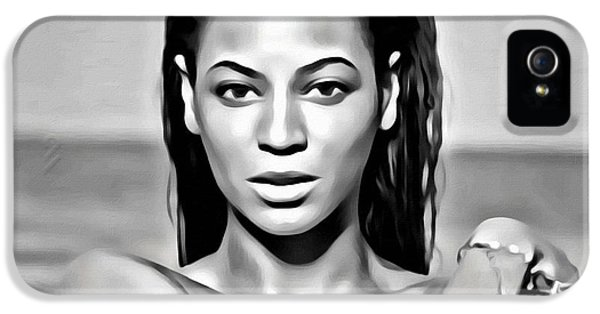 Music Legend iPhone 5 Cases - Beyonce iPhone 5 Case by Florian Rodarte