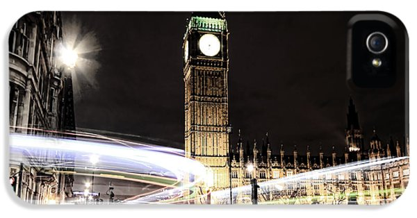 Big Ben With Light Trails IPhone 5 / 5s Case by Jasna Buncic