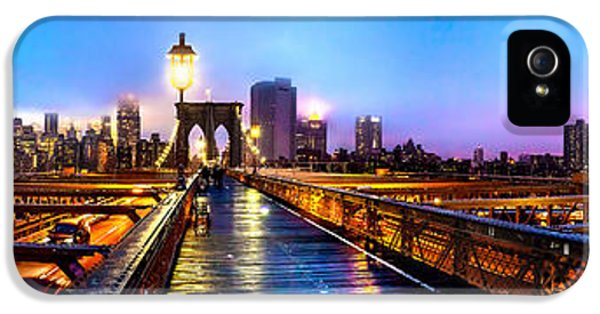 Hudson River iPhone 5 Cases - Big City Blues iPhone 5 Case by Az Jackson