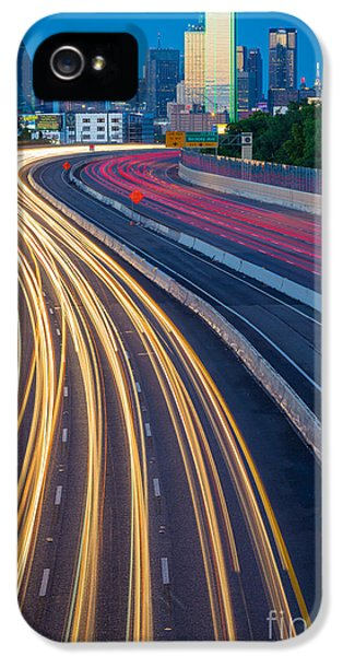 Reflective iPhone 5 Cases - Big D Freeway iPhone 5 Case by Inge Johnsson
