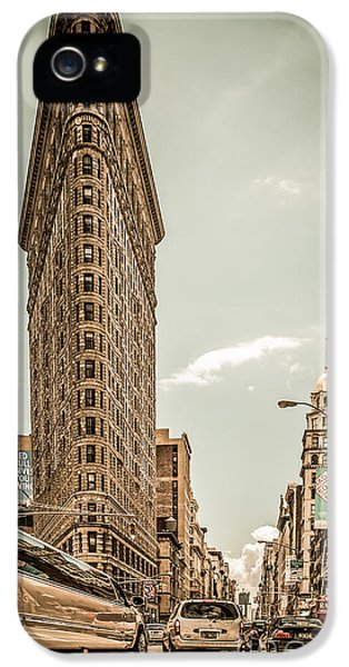 Buildings iPhone 5 Cases - Big In The Big Apple iPhone 5 Case by Hannes Cmarits