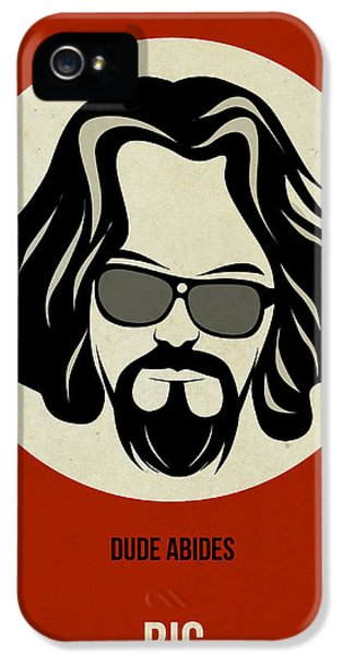 Tv Show iPhone 5 Cases - Big Lebowski Poster iPhone 5 Case by Naxart Studio
