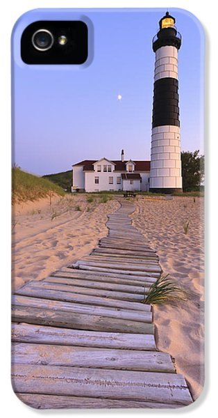 Harbour iPhone 5 Cases - Big Sable Point Lighthouse iPhone 5 Case by Adam Romanowicz