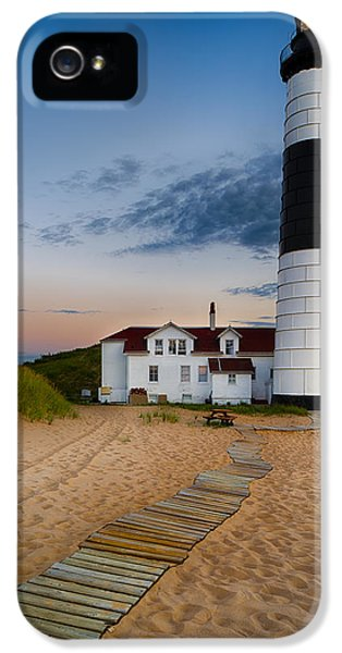 Sea iPhone 5 Cases - Big Sable Point Lighthouse iPhone 5 Case by Sebastian Musial