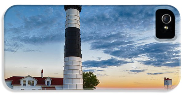 Summer iPhone 5 Cases - Big Sable Point Lighthouse Sunset iPhone 5 Case by Sebastian Musial
