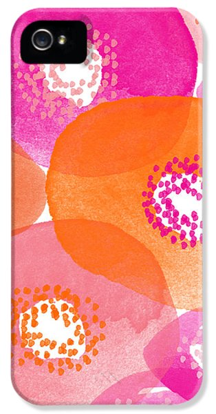 Big Spring Flowers- Contemporary Watercolor Painting IPhone 5 / 5s Case by Linda Woods