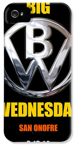Wednesday iPhone 5 Cases - Big Wednesday 2014 Poster iPhone 5 Case by Ron Regalado