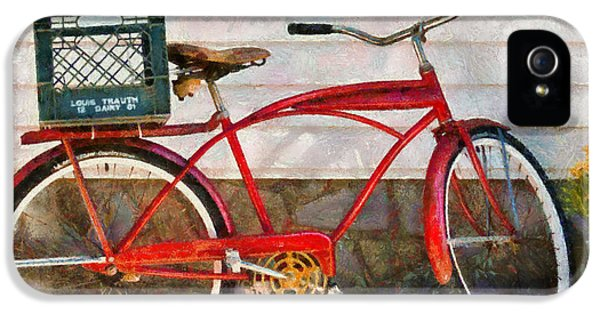 Suburbanscenes iPhone 5 Cases - Bike - Delivery Bike iPhone 5 Case by Mike Savad
