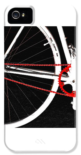 Bike In Black White And Red No 2 IPhone 5 / 5s Case by Ben and Raisa Gertsberg