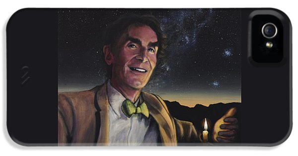 Science Print iPhone 5 Cases - Bill Nye - A Candle in the Dark iPhone 5 Case by Simon Kregar