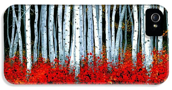 Forrest iPhone 5 Cases - Birch 24 x 48 - SOLD iPhone 5 Case by Michael Swanson