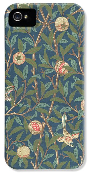 Arts And Crafts Movement iPhone 5 Cases - Bird and Pomegranate iPhone 5 Case by William Morris