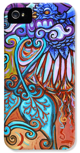 Gaia iPhone 5 Cases - Bird Heart IV iPhone 5 Case by Genevieve Esson