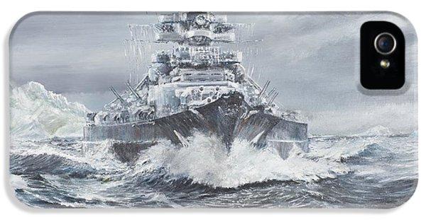 Bismarck Off Greenland Coast  IPhone 5 / 5s Case by Vincent Alexander Booth