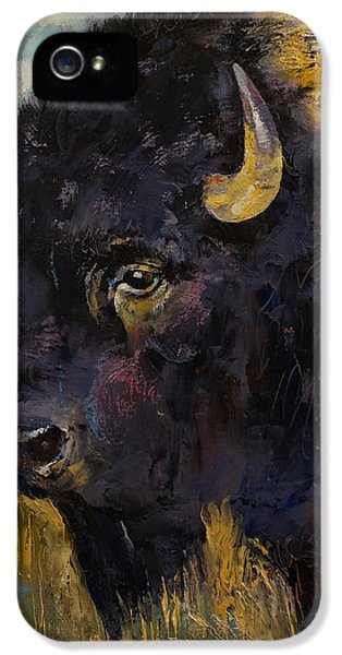 Modern Western iPhone 5 Cases - Bison iPhone 5 Case by Michael Creese