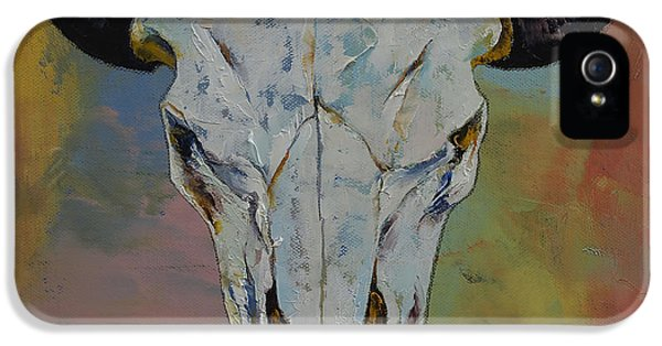 Modern Western iPhone 5 Cases - Bison Skull iPhone 5 Case by Michael Creese