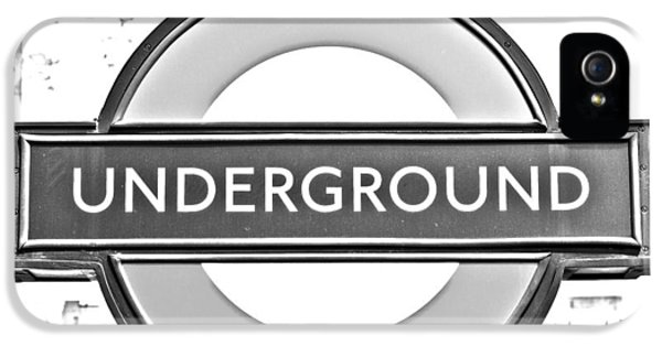 Black And White Underground IPhone 5 / 5s Case by Georgia Fowler