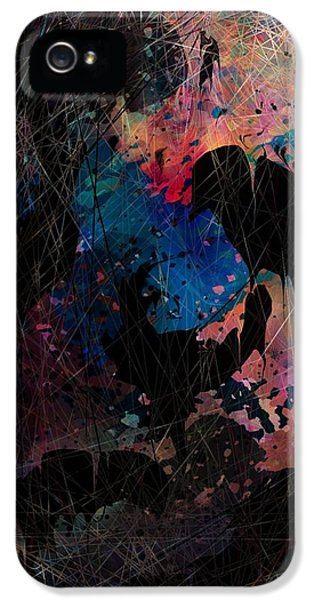 Insanity iPhone 5 Cases - Black Bird iPhone 5 Case by Rachel Christine Nowicki