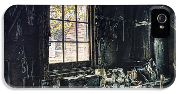Workbench iPhone 5 Cases - Blacksmiths Workbench - One October Afternoon iPhone 5 Case by Gary Heller